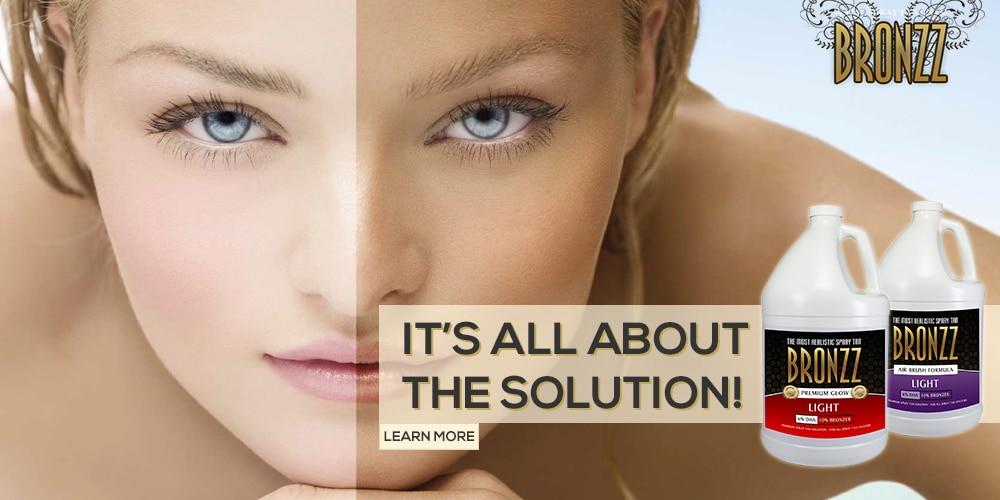 clear spray tan solution